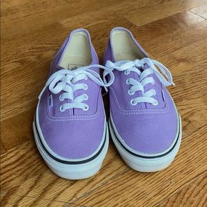 Light purple Vans - women's size 7.5